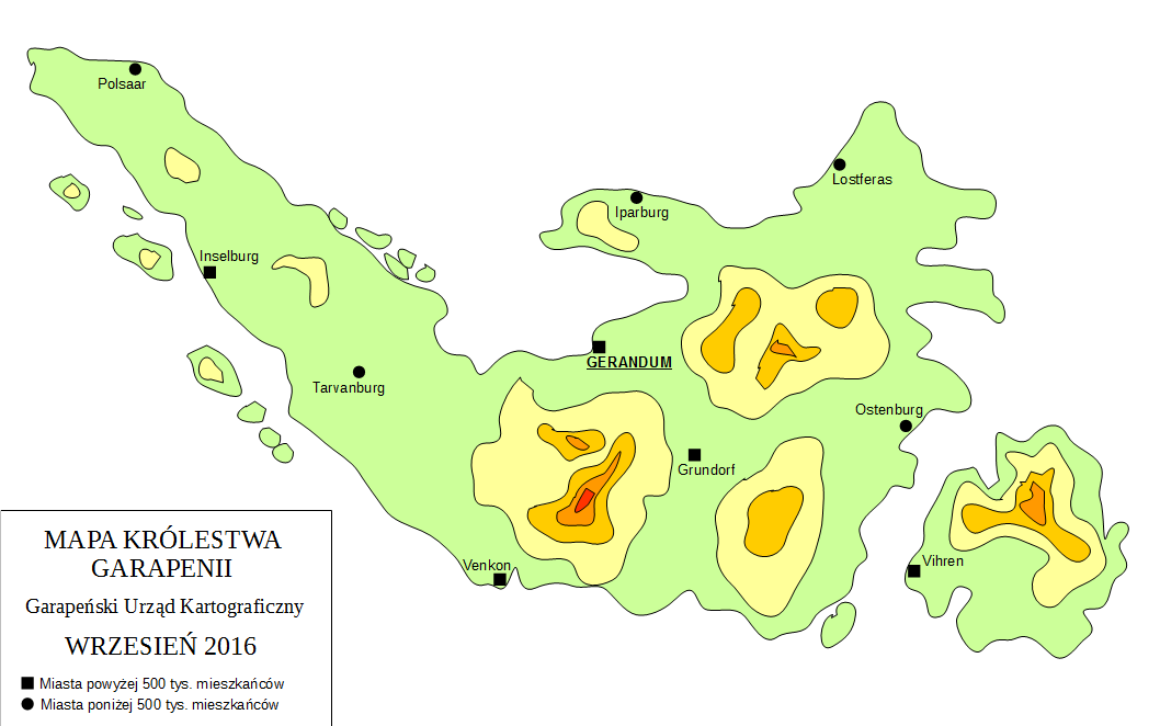 Mapa fizyczna Garapenii